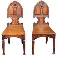 Pair of Antique Hall Chairs