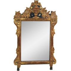Antique Gilt Carved Hanging Wall Mirror
