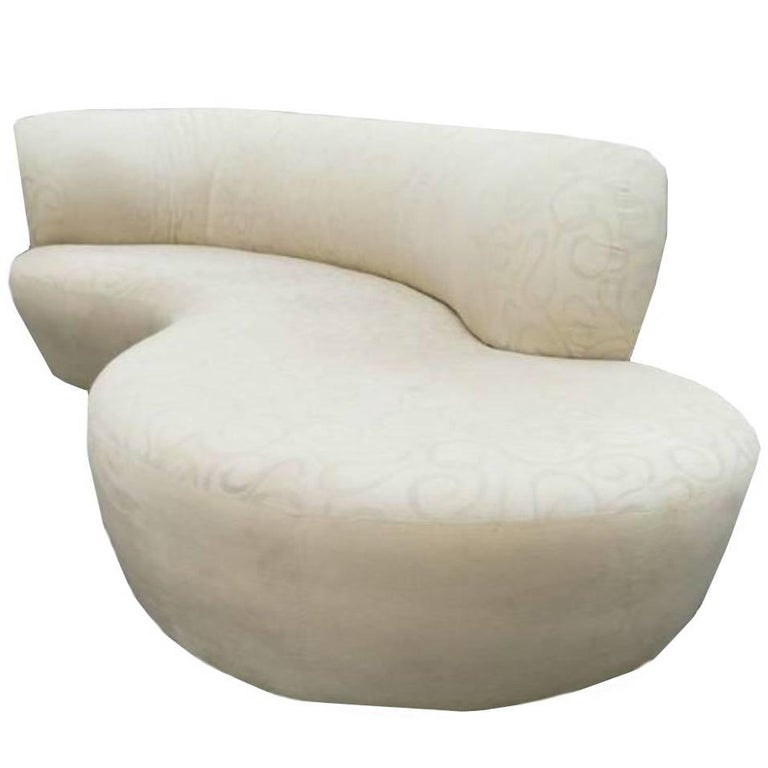 Vladimir Kagan Style Serpentine Cloud Sofa Right Arm For Sale