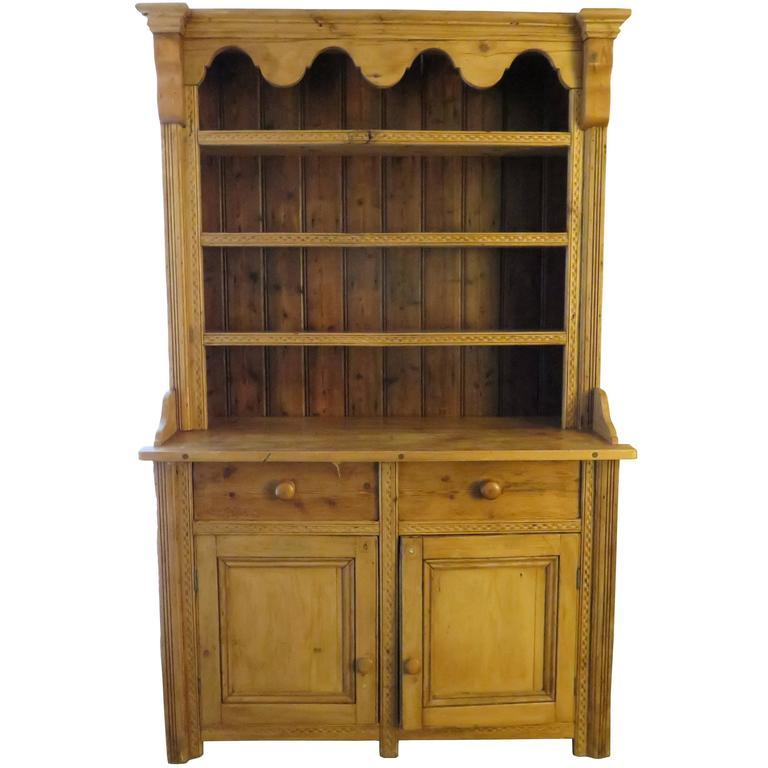 Late 19th Century Pine Welsh Dresser 1