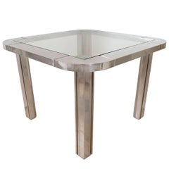 Polished Nickel and Brass Game Table