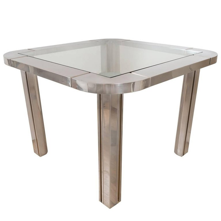 Polished Nickel and Brass Game Table 1