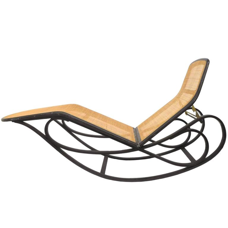 Rocking Chaise Lounge By Edward Wormley For Dunbar