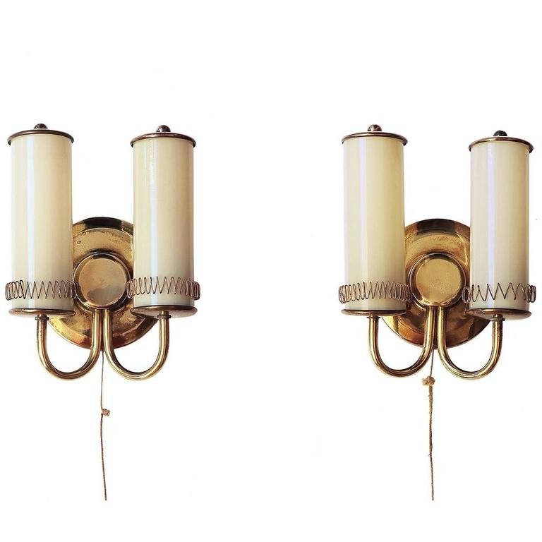 Pair of Sconces in the Manner of Paavo Tynell, 1940s, Finland