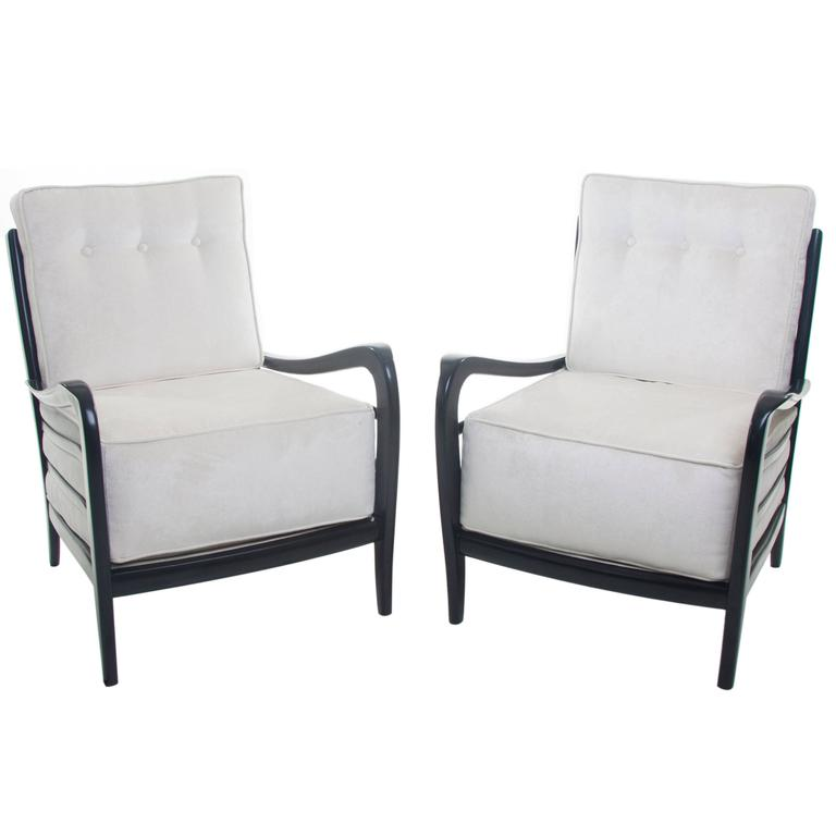 Pair Of Modernist Lounge Chairs By Paolo Buffa Attributed For Sale At 1stdibs