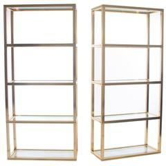 Pair of Pierre Vandel Display Shelves