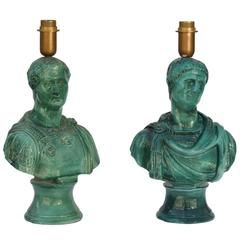"Piero Fornasetti, ""Consoli"" Pair of Lamps, Italy"