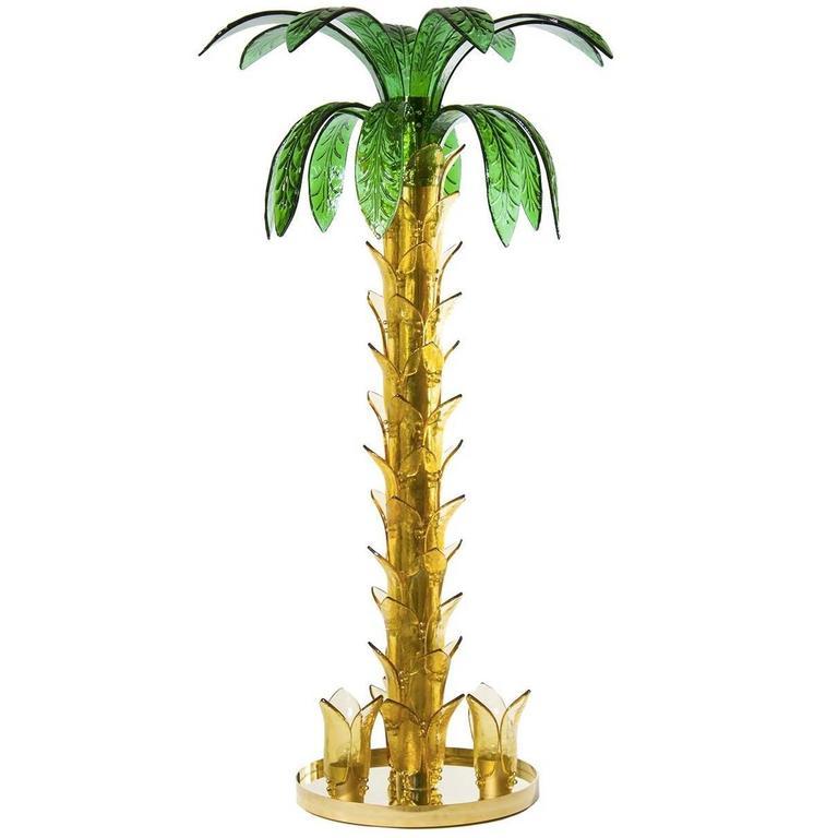 Italian Palm Floor Lamp
