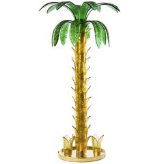 Italian Palm Floor Lamp