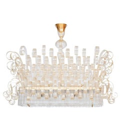 Limited Edition Italian Chandelier with 24-Karat Gold
