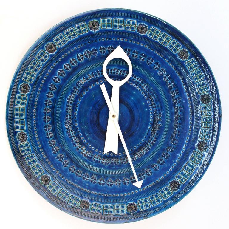 Rimini Blue Ceramic Clock by Bitossi 1