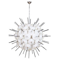 Italian Sputnik and 24K Gold Chandelier