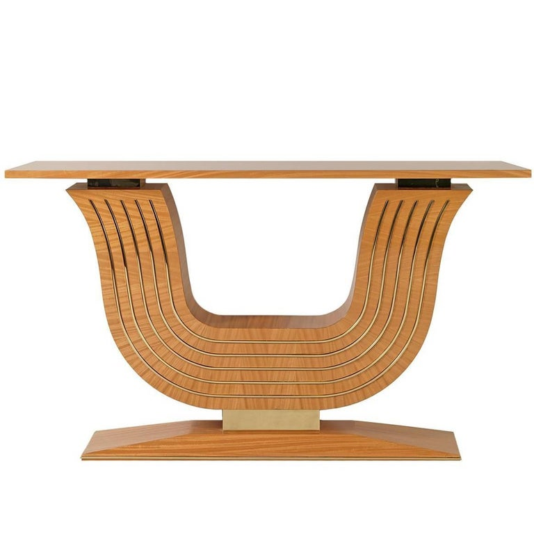 Citronnier Wood Console