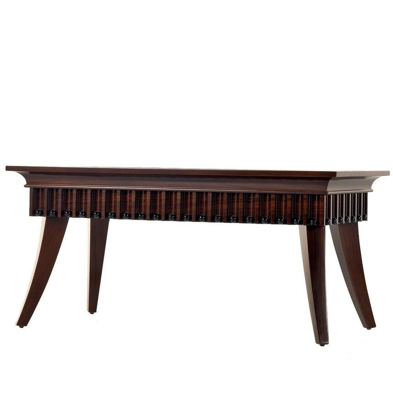 Walnut Wood Coffee Table For Sale