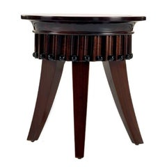 Walnut Wood Round Side Table