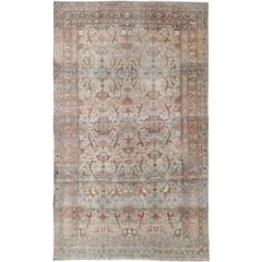 Antique Distressed Isfahan Rug