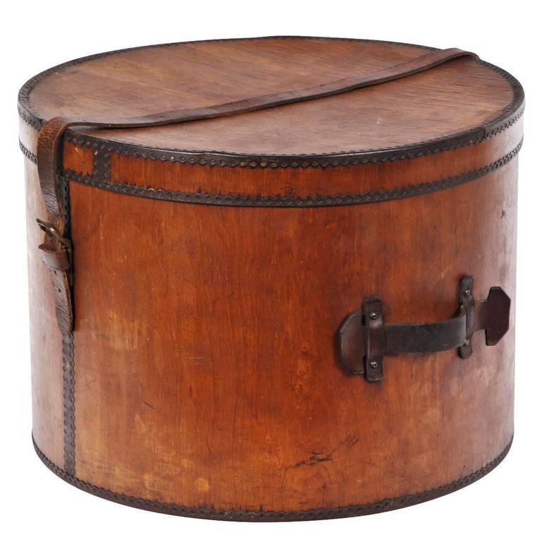 19th Century Wooden Hat Box