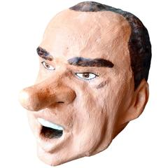Monumental Richard Nixon Sculptural Head