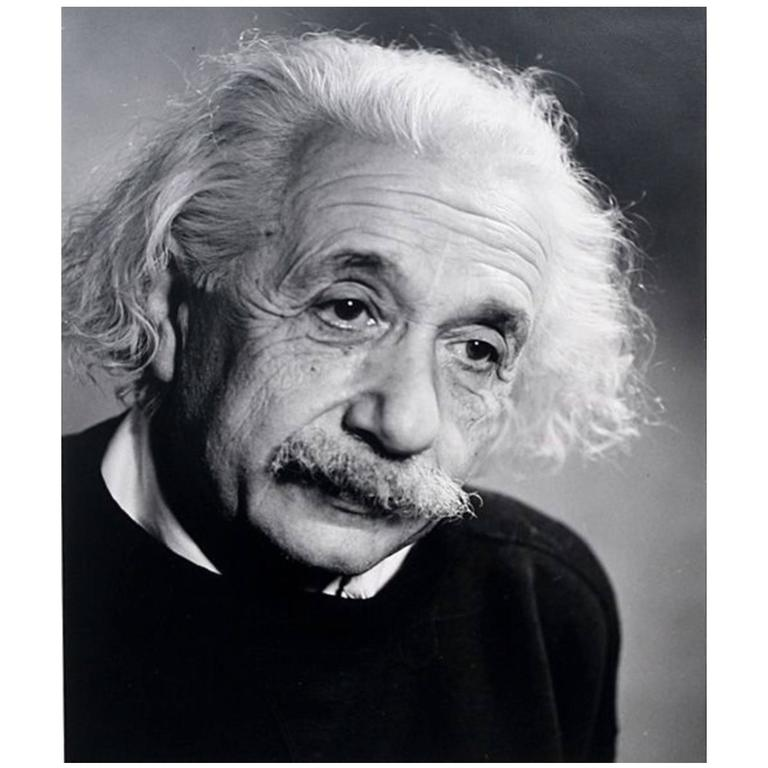 Iconic Limited Edition Fred Stein Photo of Albert Einstein For Sale