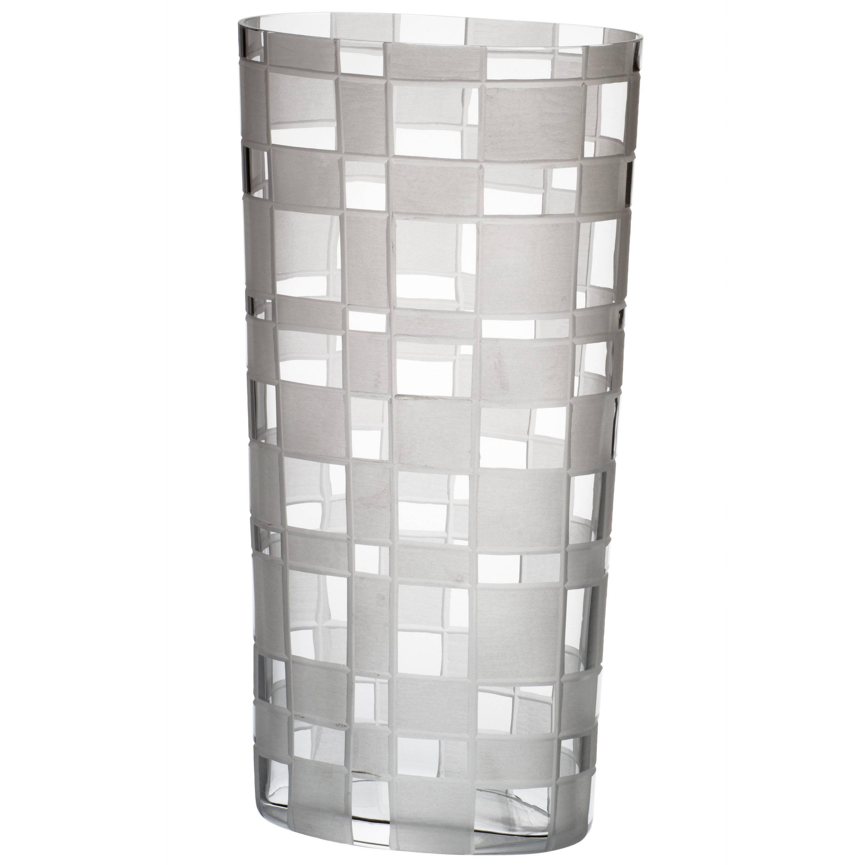 Milleriquadri Carlo Moretti Contemporary Murano Mouthblown Clear Glass Vase