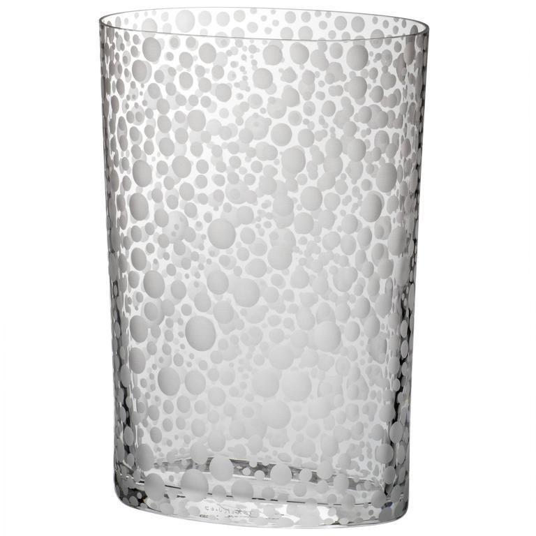Millebolle Carlo Moretti Contemporary Murano Clear Glass Hand Etched