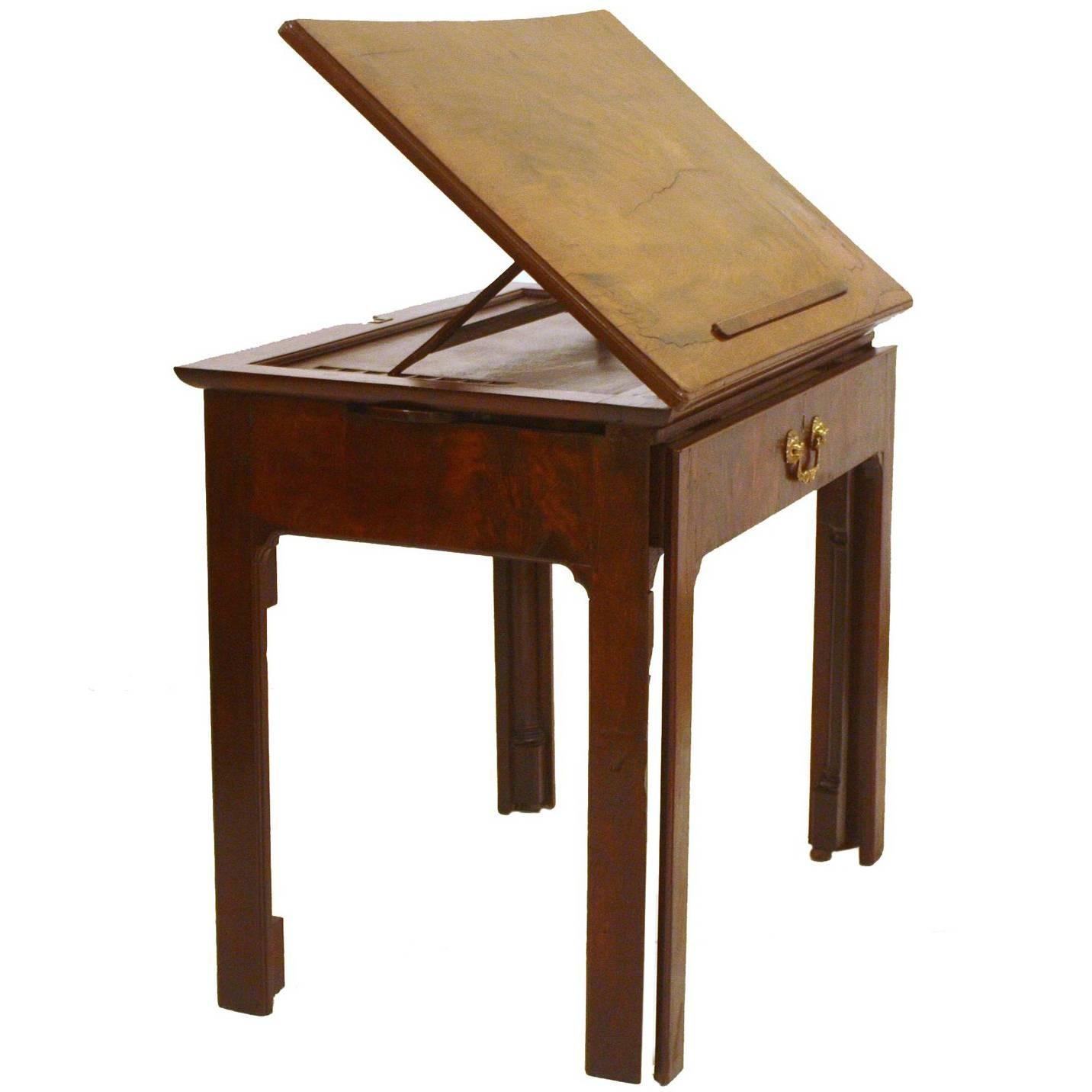 18th Century George III Architect\u0027s Desk / Adjustable Drawing Table For Sale