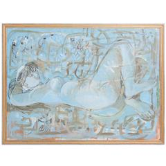 Elaine Haxton Oil Painting, Sleeping Lady
