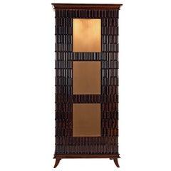 Walnut Wood Display Cabinet