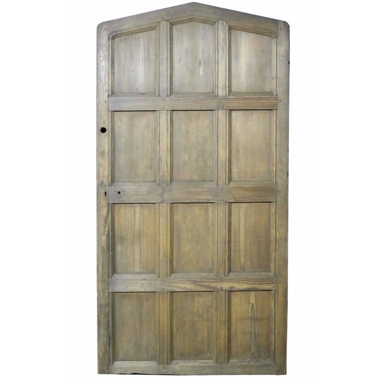 Antique Arched Hemlock / Pine Door For Sale