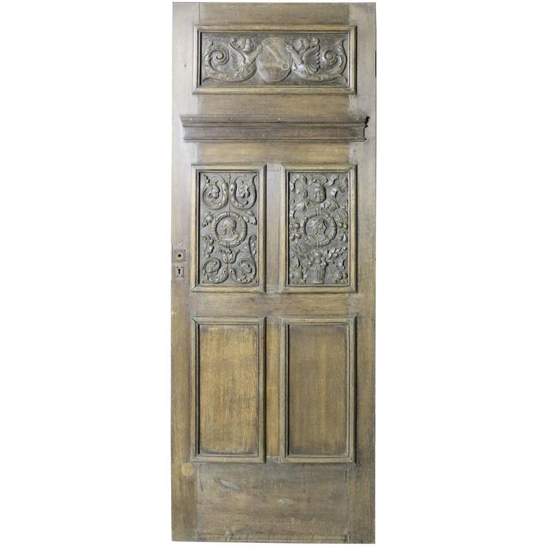 19th Century Carved Oak Door