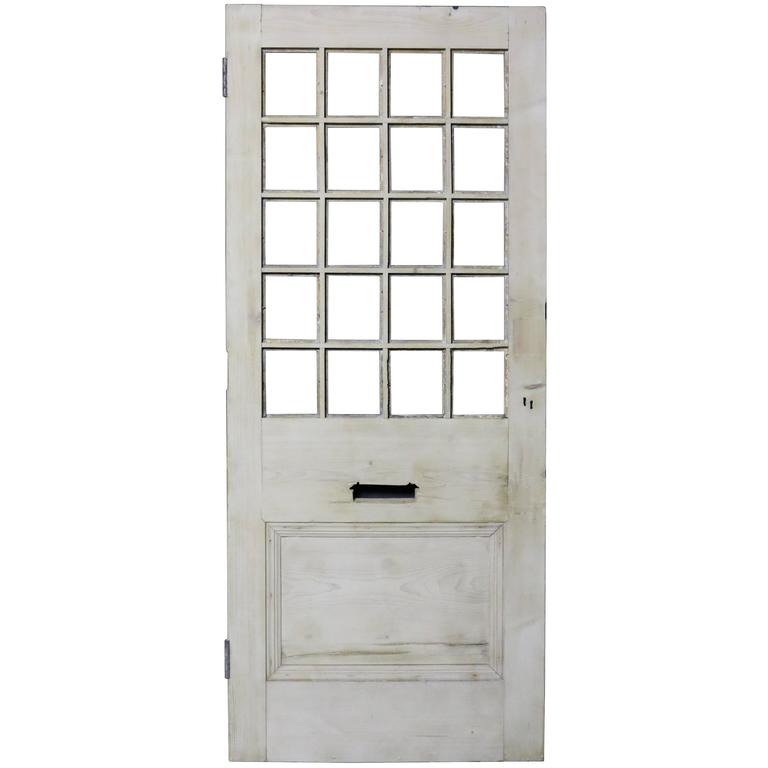 Antique Stripped Pine Front Door For Sale