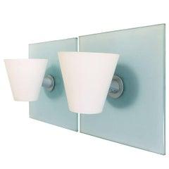 "Pair of Murano Glass Wall Lights ""Quadro Parete"" by Foscarini, Italy"