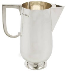 1930s Antique Sterling Silver Water Jug by Charles Boyton