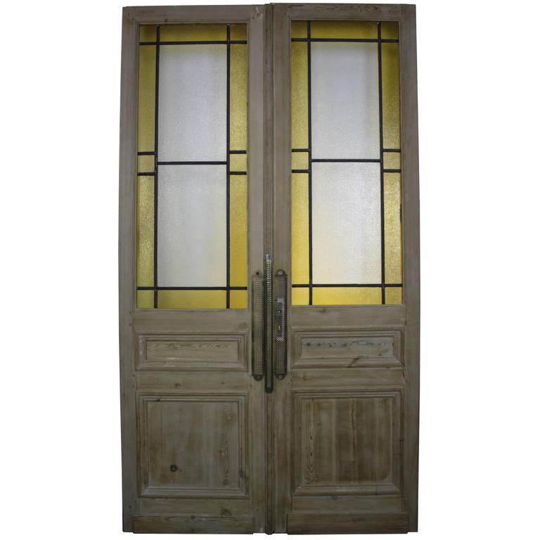 Pair of French Pine Double Doors