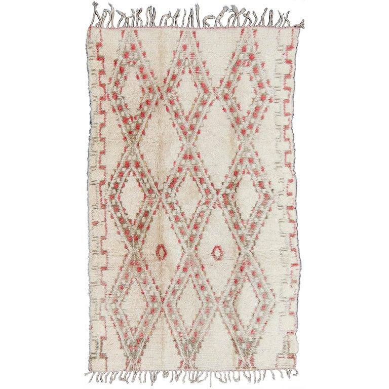 Vintage Beni Orain Moroccan Rug