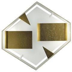 Striking Wall Light Hexagonal Sconce by Gio Ponti