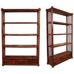 Pair of Vintage Shelf Units