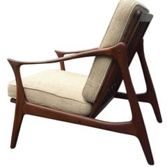 Mid-Century Danish Teak Easy Chair by Arne Hovmand-Olsen for Mogens Kold, 1960s