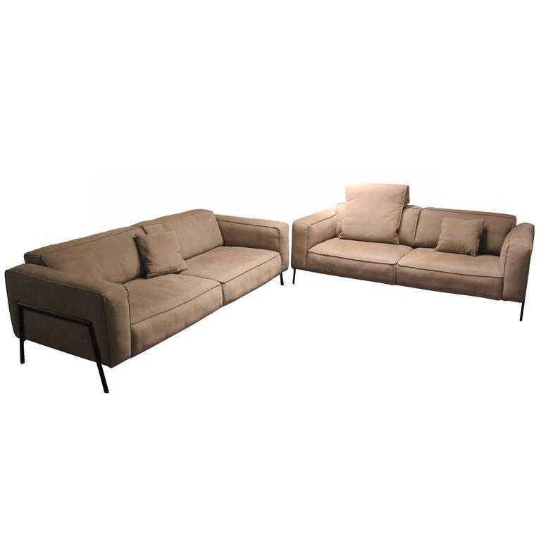 rolf benz set of sofas model 500 manufactured in germany for sale at 1stdibs. Black Bedroom Furniture Sets. Home Design Ideas