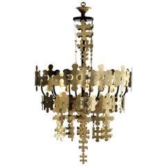 Contemporary Brass Chandelier
