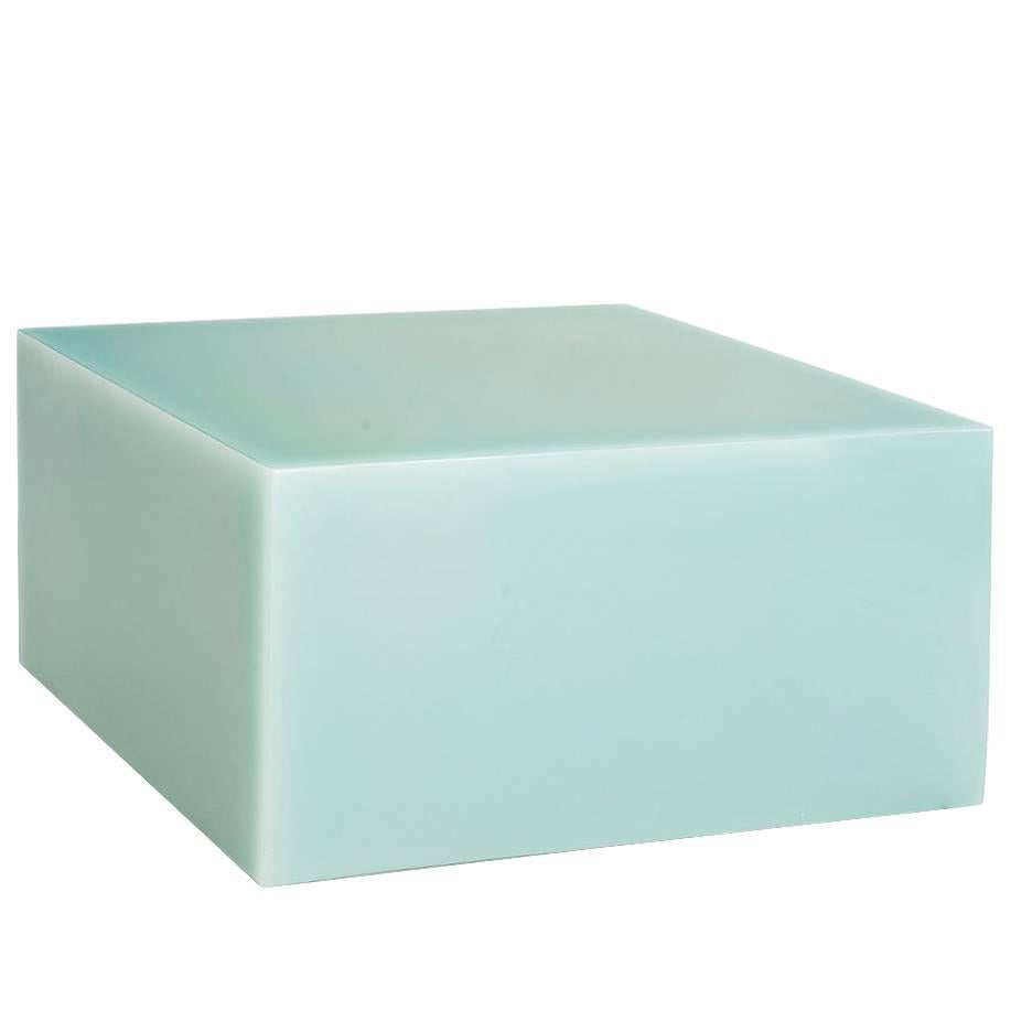 Sabine Marcelis Contemporary Mint Candy Cube Low Side Table High Cast Resin