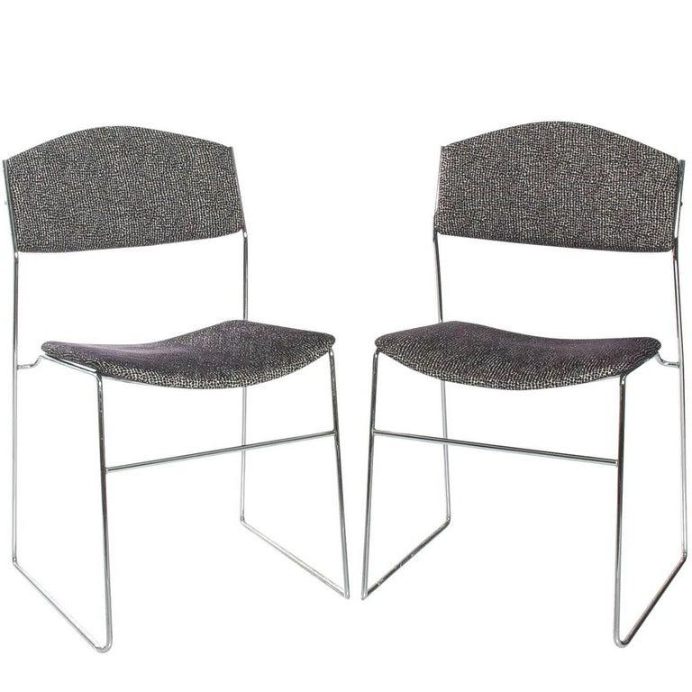 Pair of Mid-Century Italian Chrome Chairs