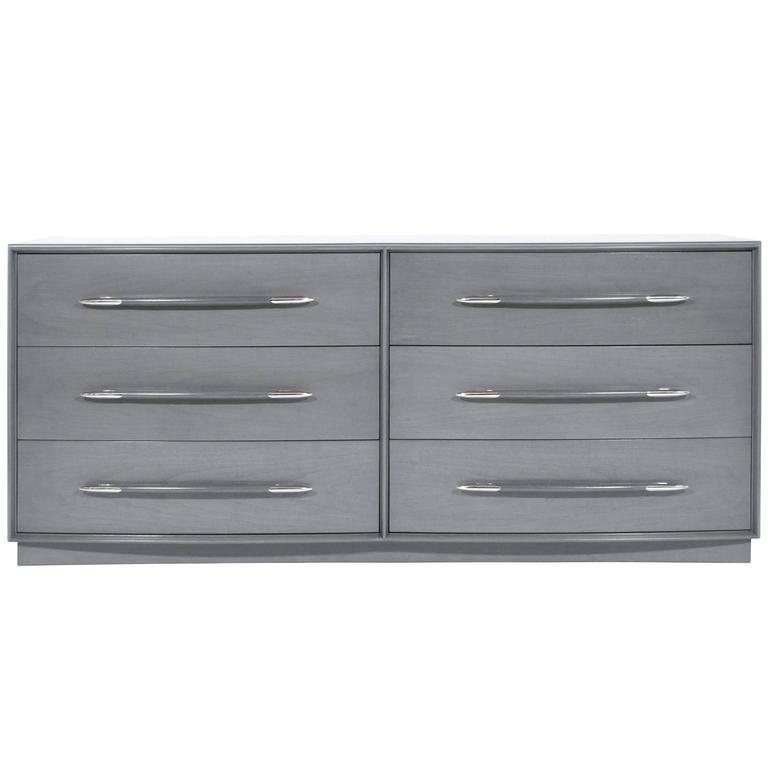 T.H. Robsjohn-Gibbings Dresser in Grey, circa 1956 1