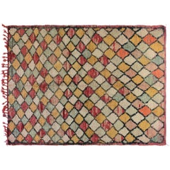 One of a Kind, Pastel Color Moroccan Rug