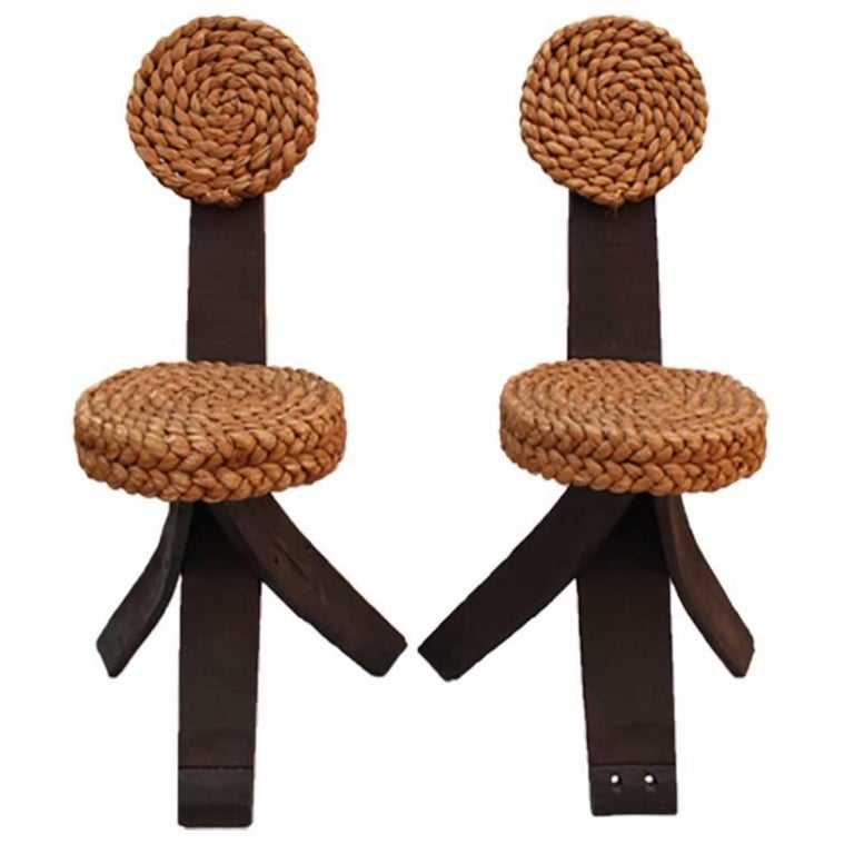 Pair of Rope Chairs 1