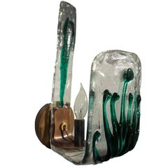 Italian Mid-Century Murano Art Glass Sconces