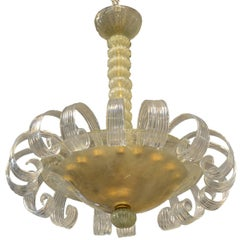 Italian Vintage Flower Venetian Chandelier by Murano Due