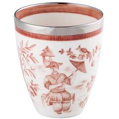 Modern Chinoiserie Hand-Painted Porcelain Vase Sofina Porzelain