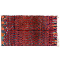 Cool Red Moroccan Rug