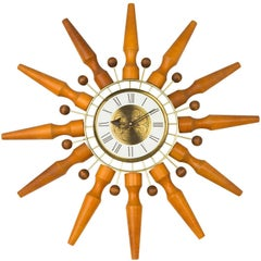Seth Thomas Sunburst Clock, circa 1950